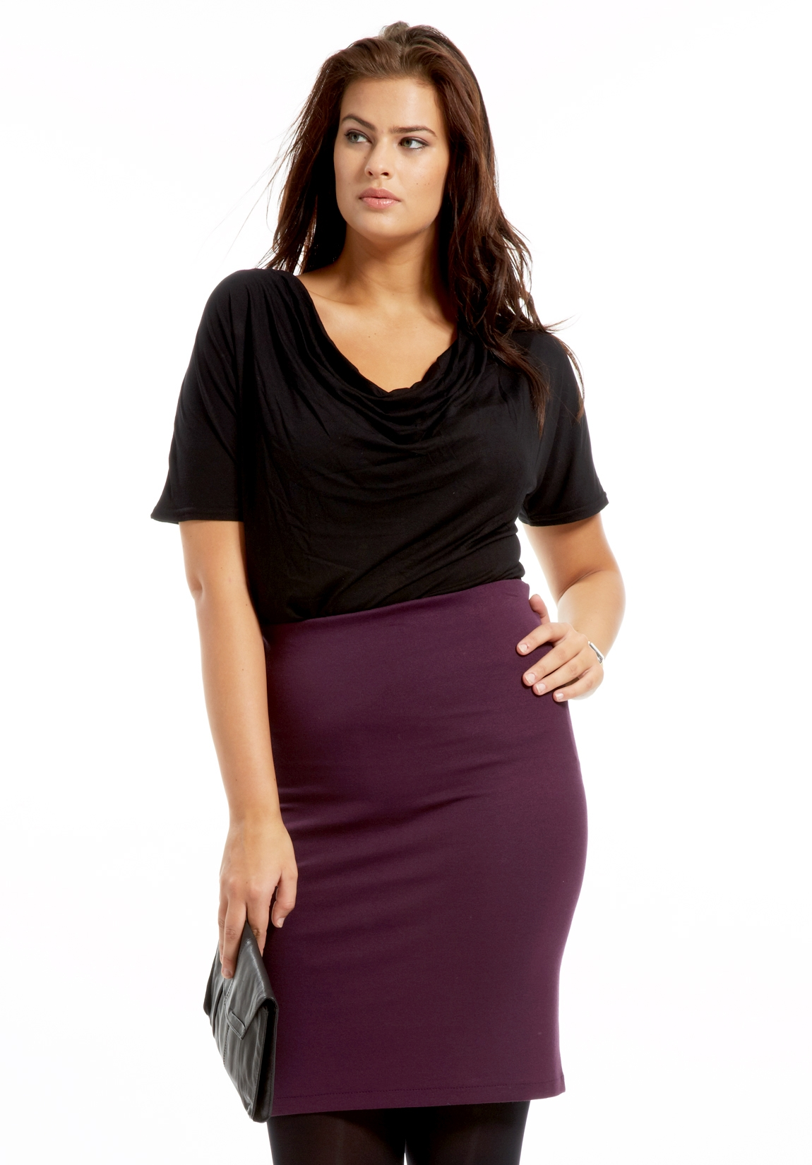 Jupe grande taille jupe longue d hiver   Mode daily 769615f59ffa